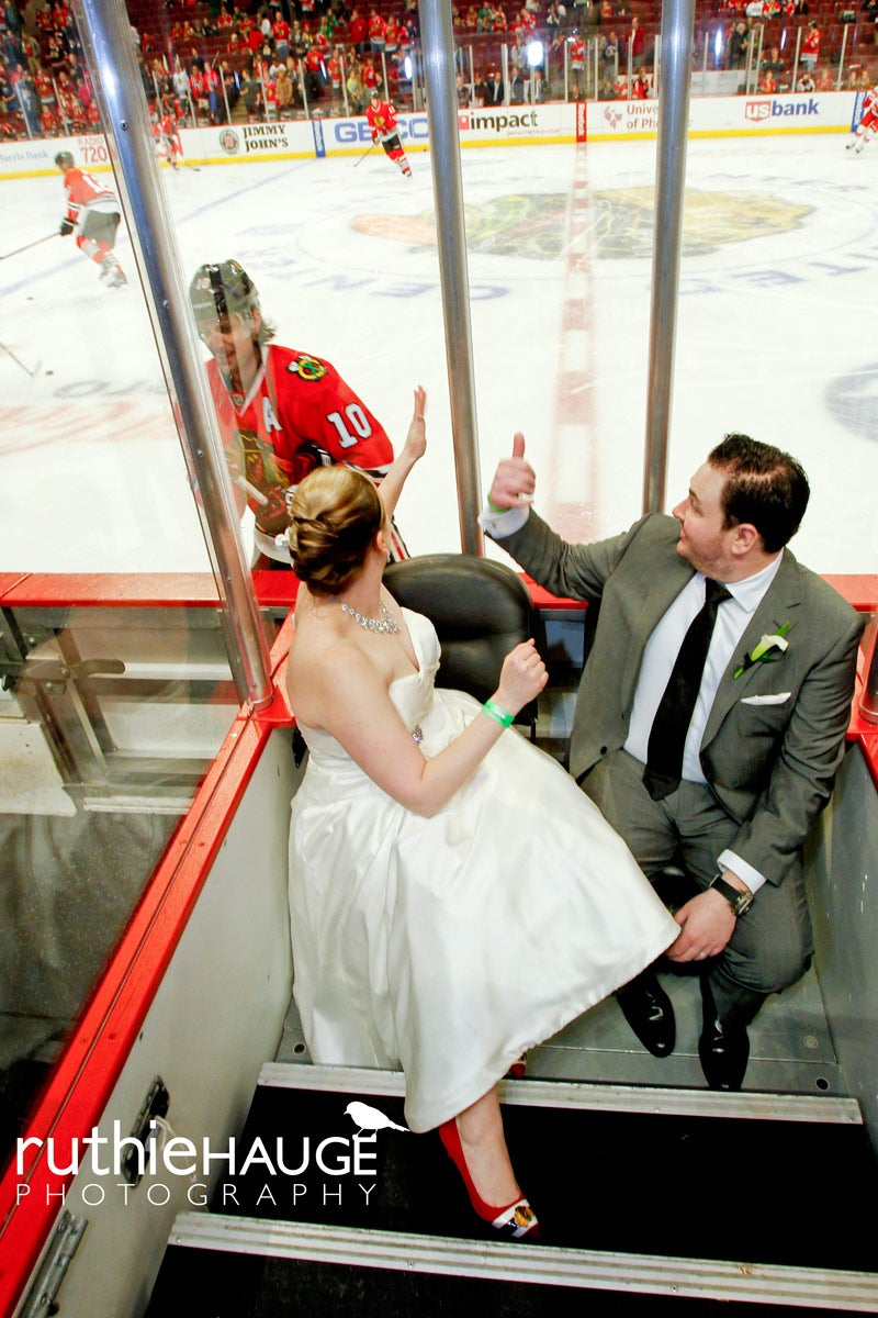 Newlyweds Photobombed By Patrick Sharp