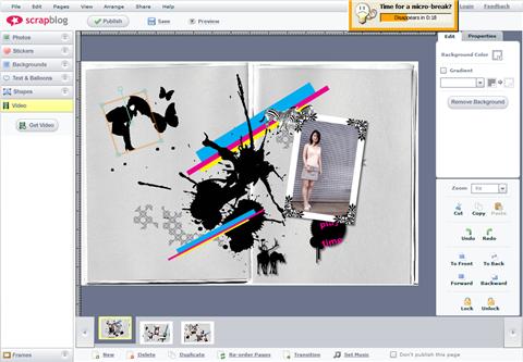 Build an online scrapbook with Scrapblog