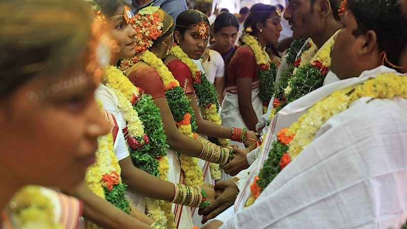 Mass Indian Marriage Saves Eight Girls from a Lifetime of Prostitution