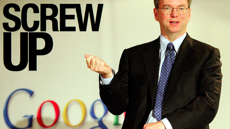 "Eric Schmidt Says He ""Screwed Up"" Social Networking at Google"