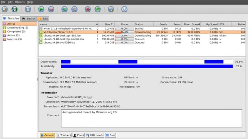 Five Best BitTorrent Clients