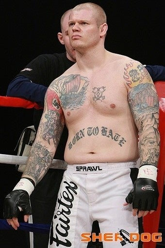 MMA Fighter's Tats Are Ultimately Offensive