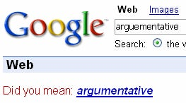 "Google School: Dictionary lookups with ""Did you mean"""