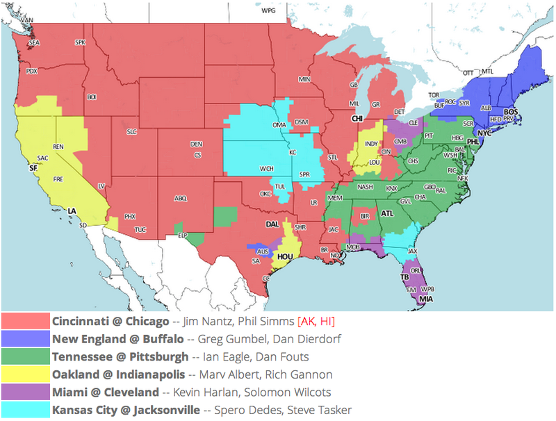 Which TV Market's Getting Screwed Today? Your Week 1 NFL Viewing Maps
