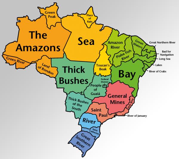 Literal Translations of Brazilian states