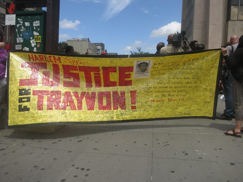Crowds Gather in Harlem Demanding Justice for Trayvon