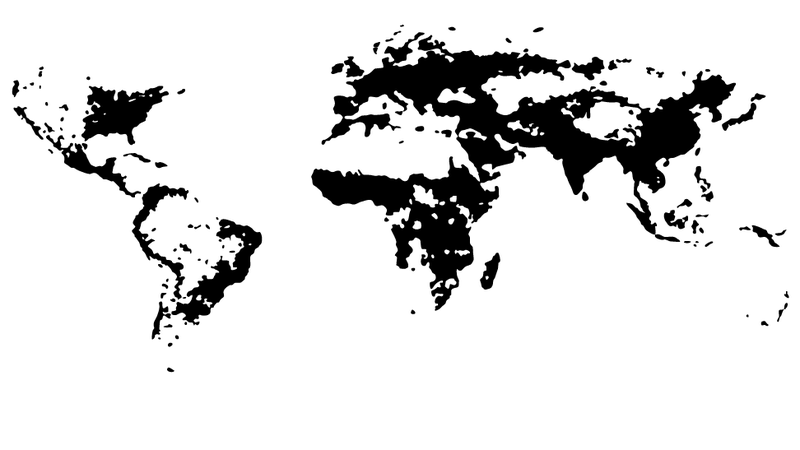The World's Population Density, Visualized