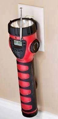 Emergency AM/FM Weather Radio Digital Clock Thermometer Bunny Hunting Accessory