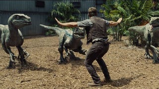 <i>Jurassic World</i> Trailer Shows Off Chris Pratt's Raptor Wrangling Skills