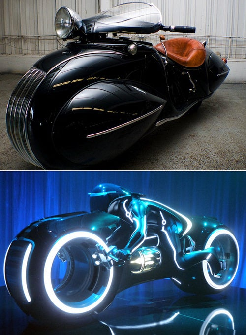 An incredible 1930s motorcycle that could have inspired Tron's light cycles
