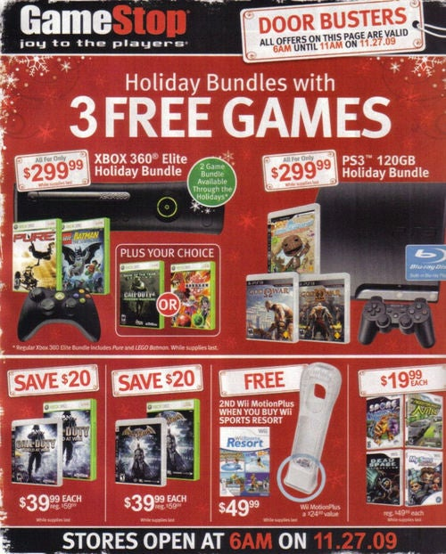 GameStop's Black Friday Console Deals Are Kinda Weak