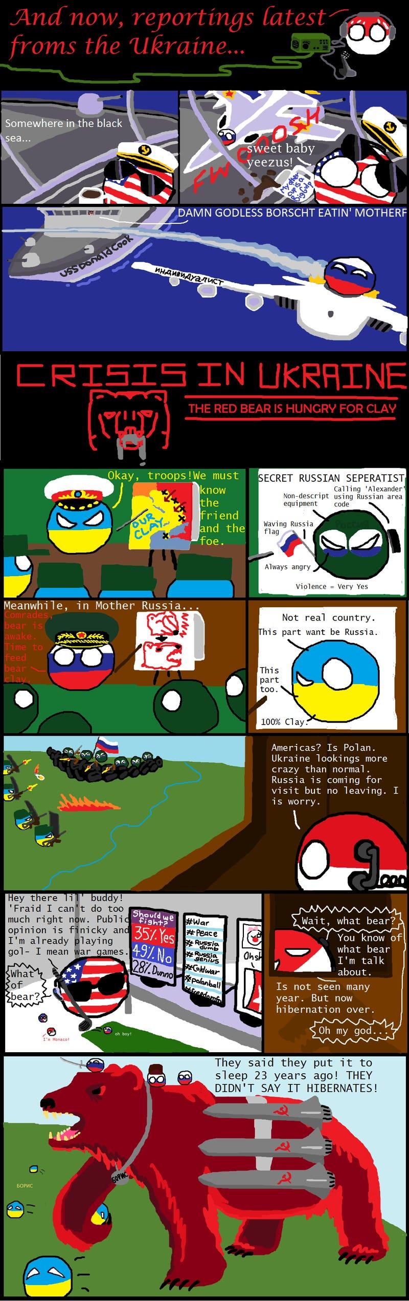 Daily Polandball: The Bear is Awake.
