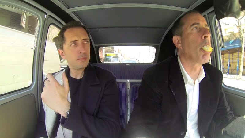 Watch Jerry Seinfeld Eat A Baguette And Drive A Broken Citroen