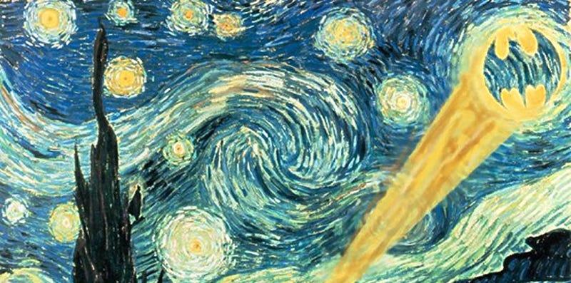 Starry Starry (Batsignal-Filled) Night
