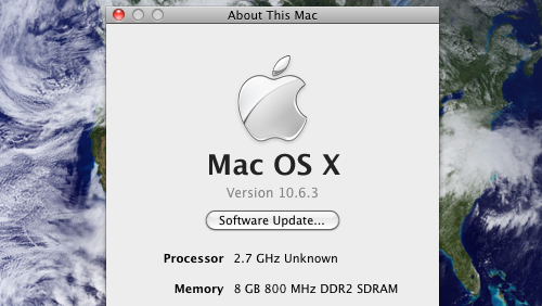 Hackintosh Updates Like a Charm to 10.6.3