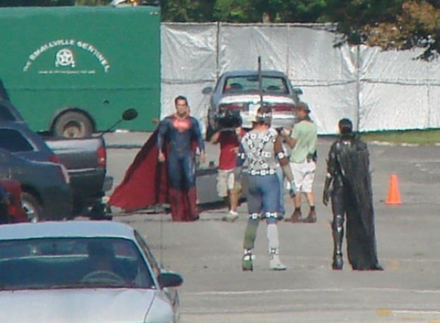 Man of Steel Faora Set Pictures