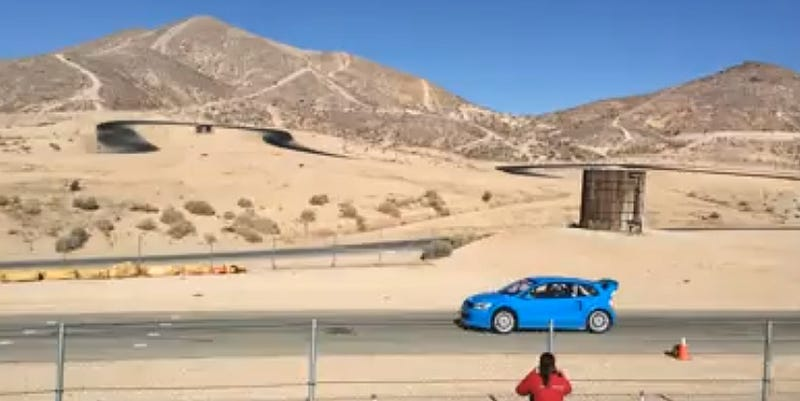 Andretti AutoSport tests new rally car at Willow Springs.