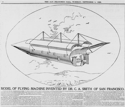 Take A Ride On Dr. Smith's Flying Machine From 1896
