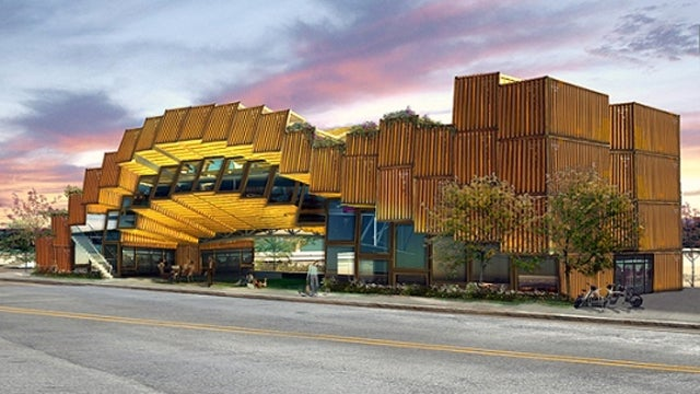 A Building Made From Shipping Containers Would Probably Scare Dexter Witless