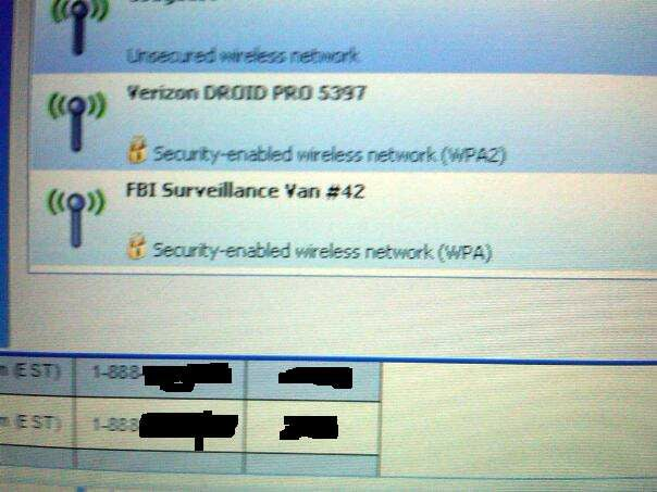 Maybe FBI Surveillance Vans Should Have Invisible Wi-Fi Networks