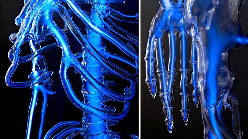 Ghostly Neon Skeleton Is a Macabre Addition To Your Man Cave