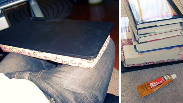 Create a Lapdesk on the Cheap with a Cushion and a Cutting Board