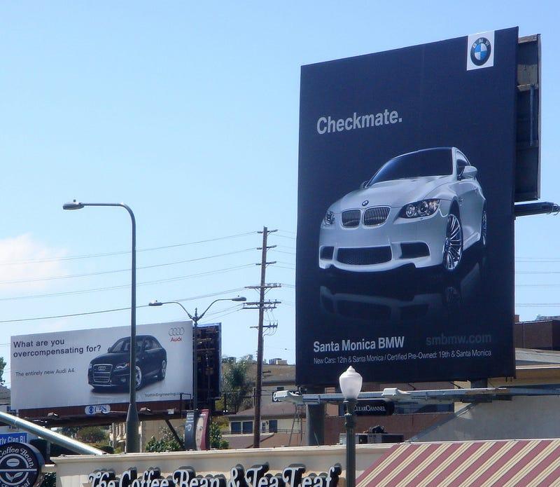 BMW Vs. Audi: Jalopnik Readers Turn Billboard Cold War Hot!