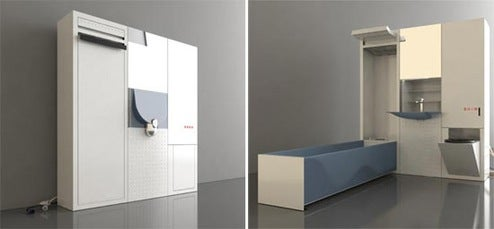 Leave Big Jobs in Small Spaces with the Collapsible Cirrus MVR Bathroom