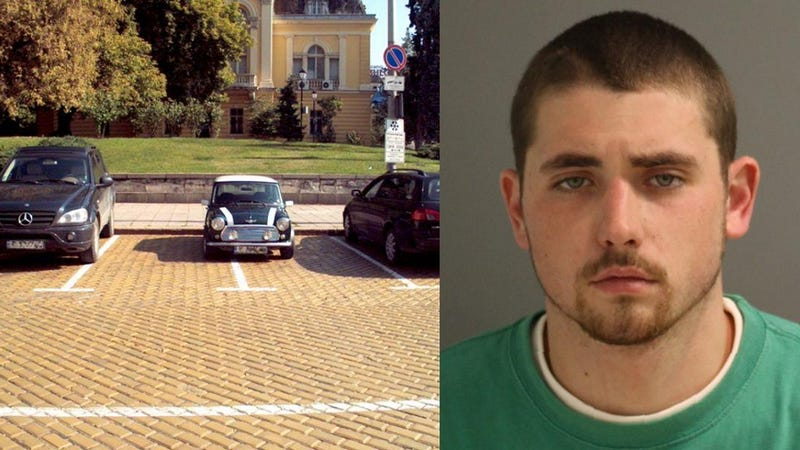 Wanted Felon Caught Because He Took Up Two Parking Spots