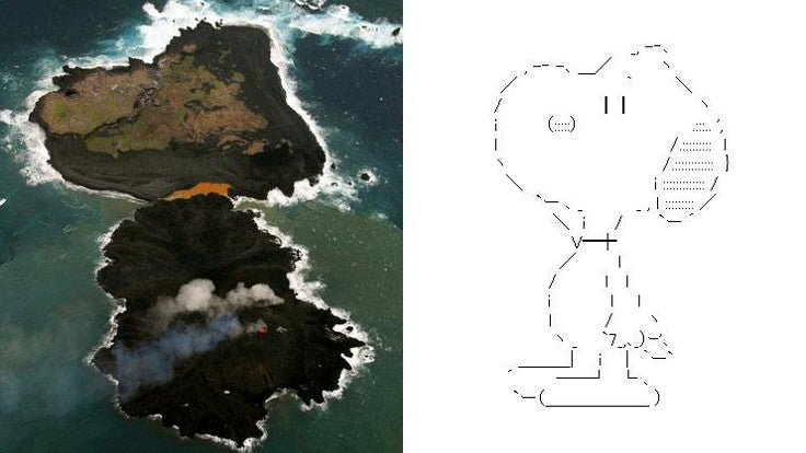 Japan's Newest Island Looks Like Snoopy