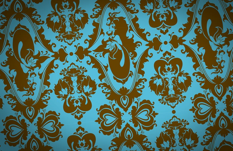 Cover your rooms in Cthulhu damask wallpaper and invite madness in