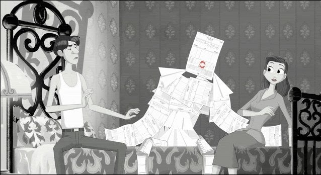 Proof that Disney's Paperman short was just a ploy for a threesome