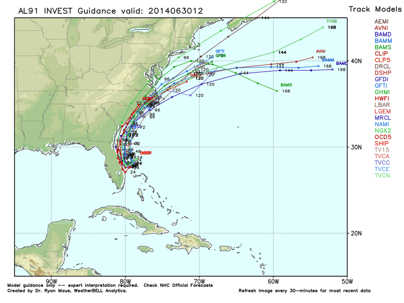 The Carolinas Are Likely Target for (Possible) Tropical Storm Arthur