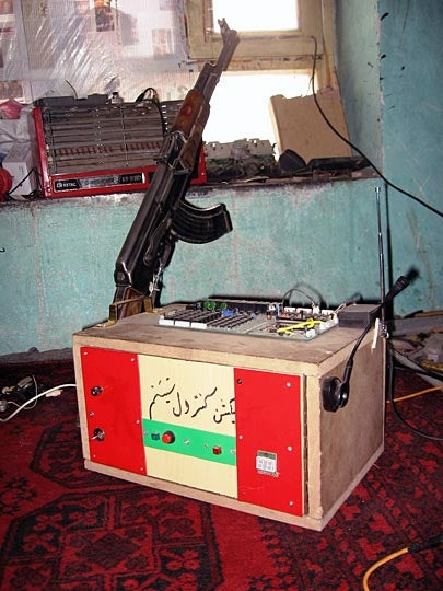 Wacky Afghan Engineer Develops Remote Controlled Kalashnikov Burglar Alarm