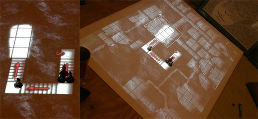 Projector Based Table Top Gaming