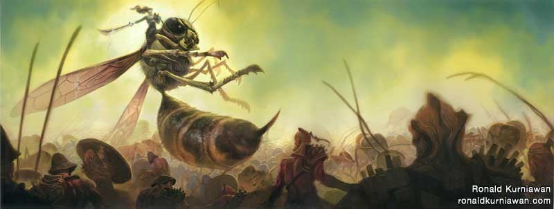 A tale of the far future, when humans have evolved to the size of insects