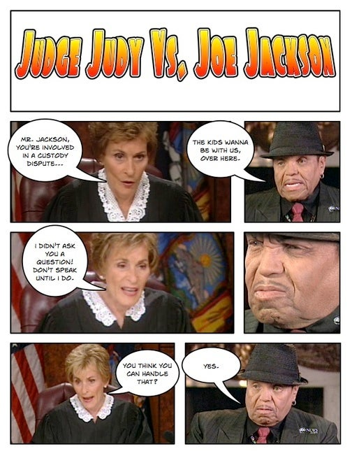 Comic Confrontations: Judge Judy Vs. Joe Jackson