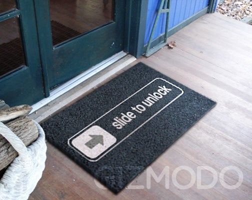 Slide to Unlock iPhone Doormat