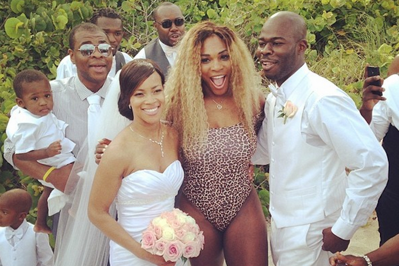 Serena Williams Crashes Lovely Wedding Dressed as Hot Sex Leopard