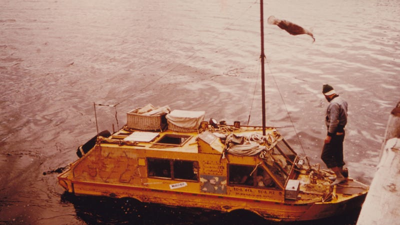 The Time A Guy And His Wife Sailed Across The Ocean In An Amphibious Jeep