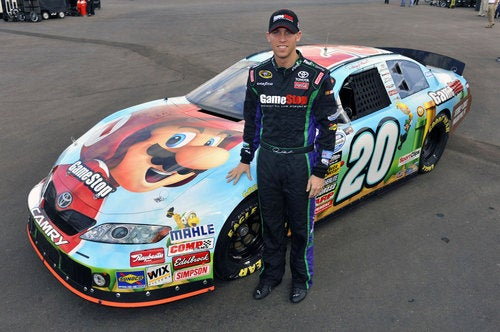 Mario Goes Round And Round In NASCAR Race