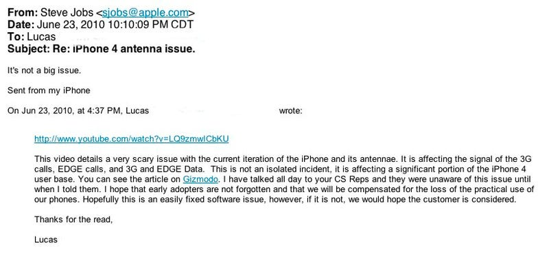 Apple Acknowledges iPhone 4 Reception Issues, Says Don't Hold It Like That