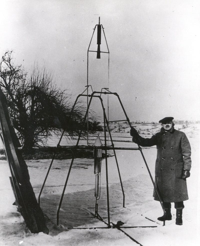 Today is the 88th anniversary of the first liquid-fueled rocket launch!