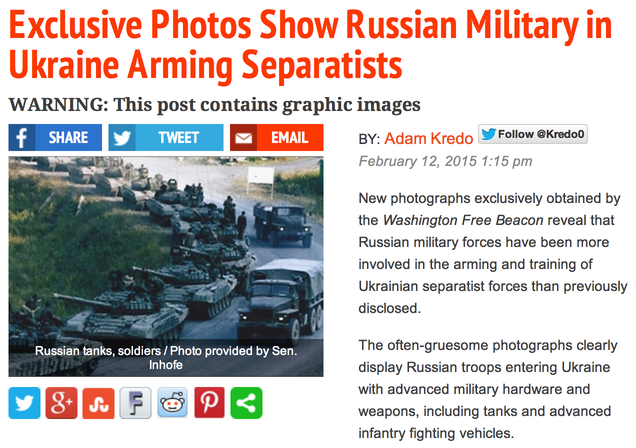 "Senator ""Duped"" Into Using Old Photos to Promote New War With Russia"