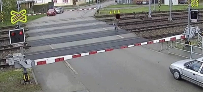 Watch This Czech Guy Narrowly Escape A Crushing Death By Train