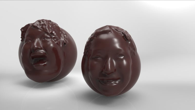 Put Your Own Face on Chocolate and Terrify Loved Ones