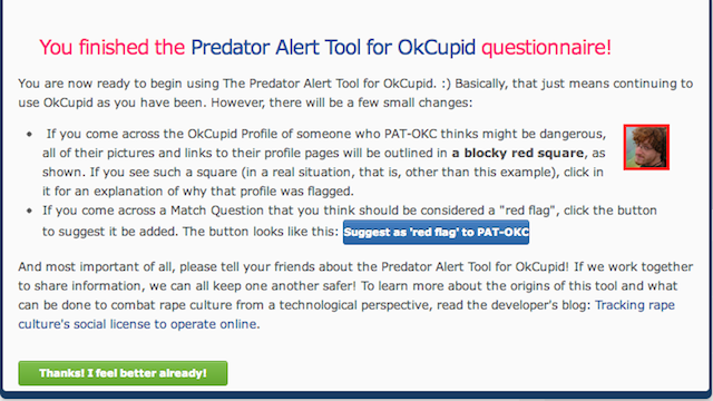 Predator Alert Warns You If Your OkCupid Prospect May Be Dangerous