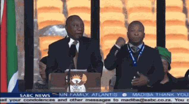 "Sign Language Interpreter at Mandela's Memorial a ""Fake"""