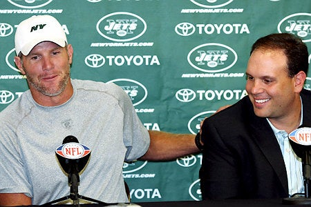 Brett Favre And Jets GM Mike Tannenbaum's Broseph Love Is Boundless and Obscenity-Laden