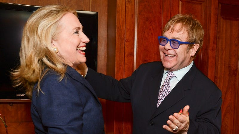 Hillary Clinton And Elton John Share a Very Important LOL
